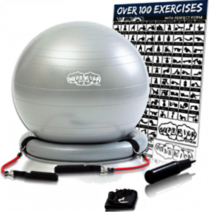 UR Superior Fitness Ball With Resistance Bands and Stability Ring